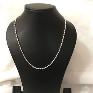 Other - Solid Silver Seed bead necklace